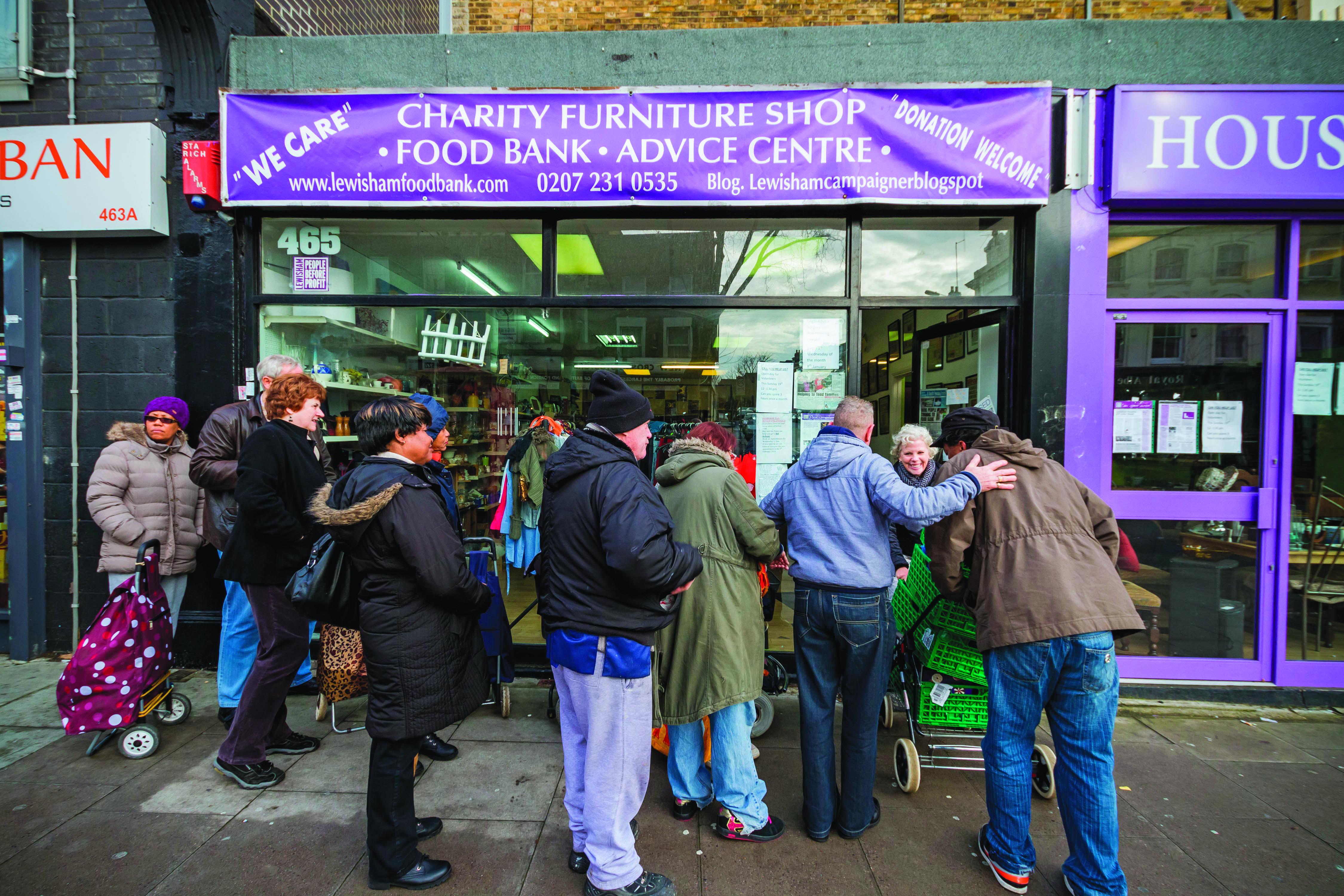 Lewisham charity/food bank ALAMY Landscape