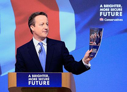 David Cameron at Conservative manifesto launch