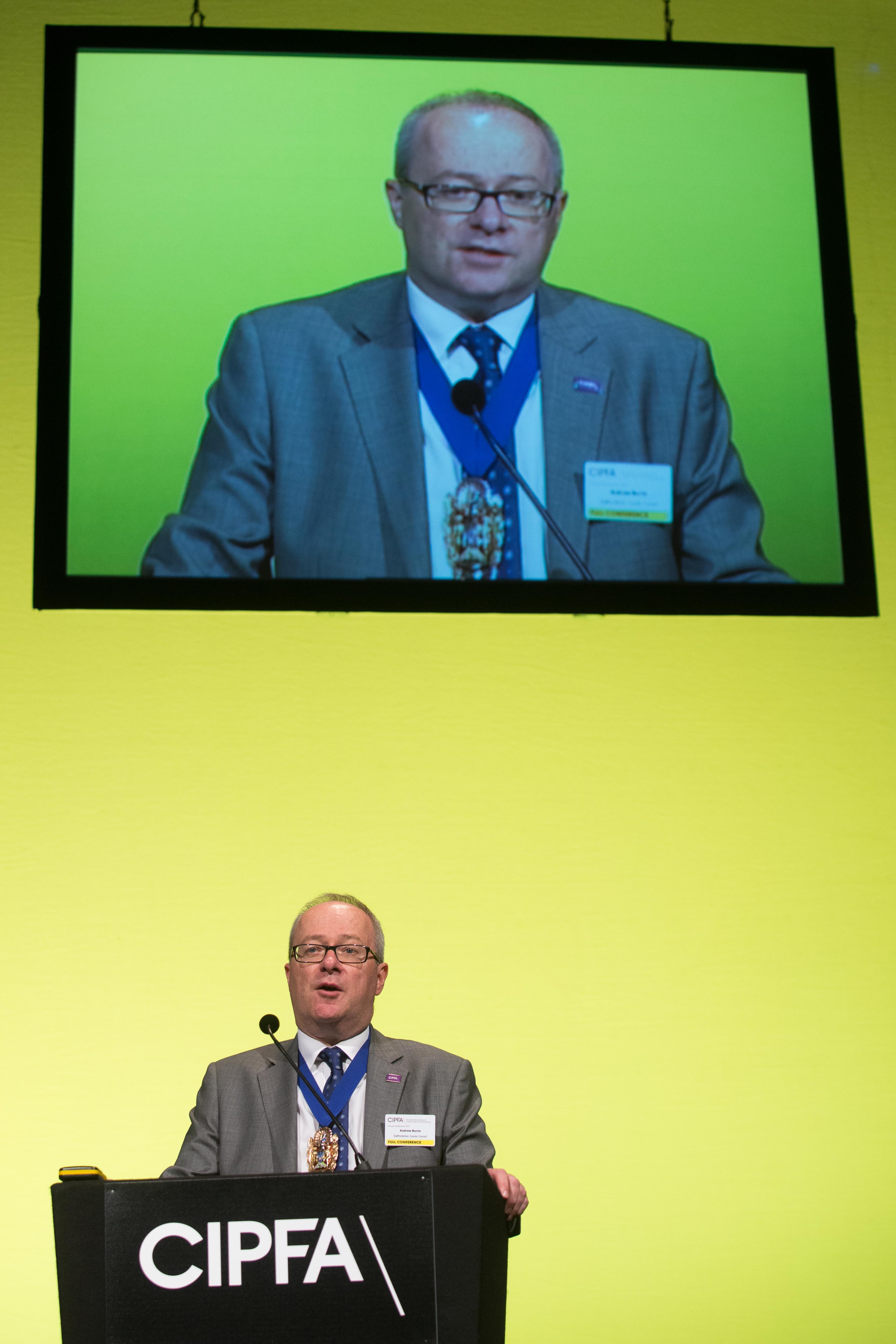 Andy Burns - CIPFA president - CIPFA 2017