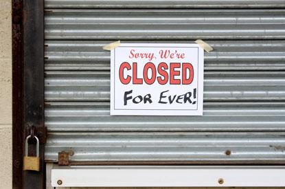 Closed down shop