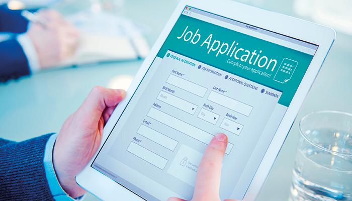 Job Application Alamy