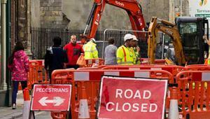 Road works in King's Lynn