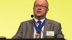 CIPFA president Andy Burns at CIPFA 2017