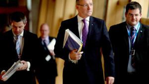 John Swinney delivers the Scottish Budget
