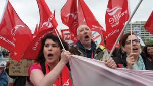 Unite demo, Photo: PA