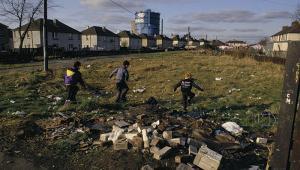 Children in poverty in Scotland Alamy