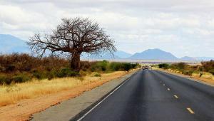 Main road in Kenya