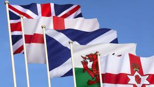UK flags devolved nations