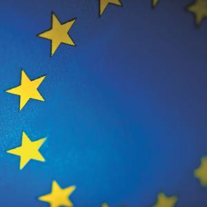 European flag close-up