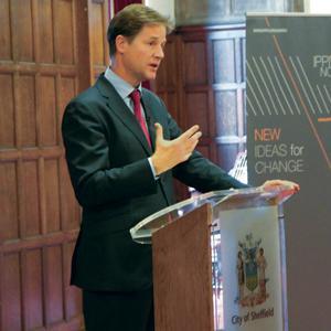 Nick Clegg in Sheffield