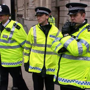 Police on their radio