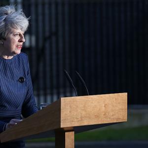 Theresa May steps of No 10