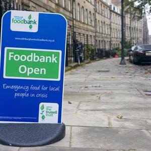 food bank, Edinburgh