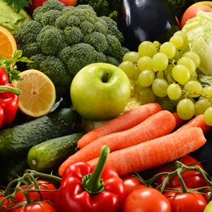 Fruit and vegetables SHUTTERSTOCK